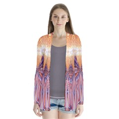 Fire Goddess Abstract Modern Digital Art  Drape Collar Cardigan by CrypticFragmentsDesign