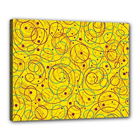 Yellow Abstract Art Canvas 20  X 16  by Valentinaart