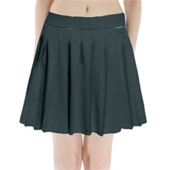 Nordic Blue Colour Pleated Mini Skirt by artpics