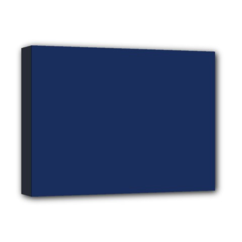 Midnight Blue Colour Deluxe Canvas 16  x 12   by artpics