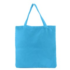 Maya Blue Colour Grocery Tote Bag by artpics