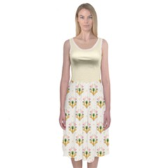 Flamingo Party Midi Sleeveless Dress by Contest2519229