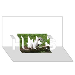 Westie Jumping HUGS 3D Greeting Card (8x4) by TailWags