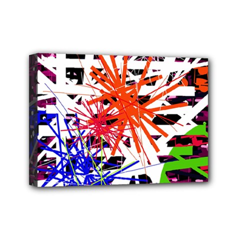 Colorful Big Bang Mini Canvas 7  X 5  by Valentinaart