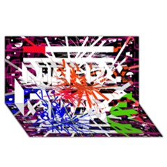 Colorful Big Bang Merry Xmas 3d Greeting Card (8x4) by Valentinaart