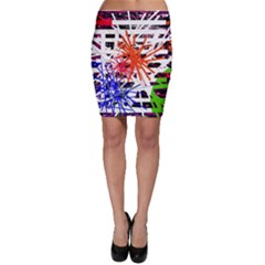 Colorful Big Bang Bodycon Skirt by Valentinaart