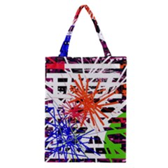 Colorful Big Bang Classic Tote Bag by Valentinaart