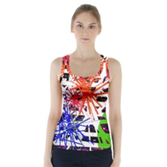 Colorful Big Bang Racer Back Sports Top by Valentinaart