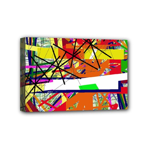 Colorful Abstraction By Moma Mini Canvas 6  X 4  by Valentinaart