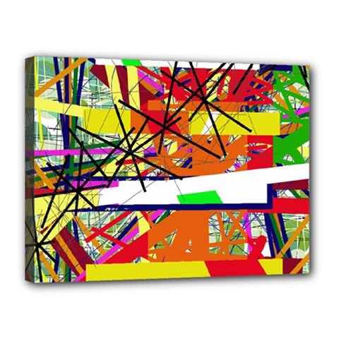 Colorful Abstraction By Moma Canvas 16  X 12  by Valentinaart