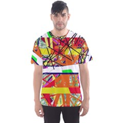 Colorful Abstraction By Moma Men s Sport Mesh Tee by Valentinaart