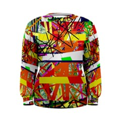 Colorful Abstraction By Moma Women s Sweatshirt by Valentinaart