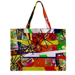 Colorful Abstraction By Moma Zipper Mini Tote Bag by Valentinaart