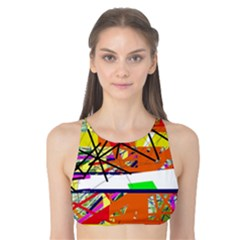 Colorful Abstraction By Moma Tank Bikini Top by Valentinaart