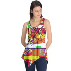 Colorful Abstraction By Moma Sleeveless Tunic by Valentinaart