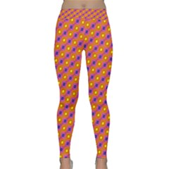 Vibrant Retro Diamond Pattern Yoga Leggings
