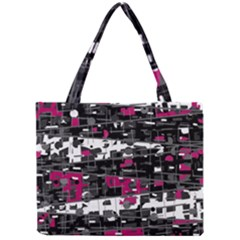 Magenta, White And Gray Decor Mini Tote Bag by Valentinaart
