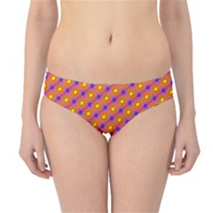 Vibrant Retro Diamond Pattern Hipster Bikini Bottoms