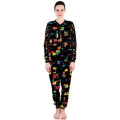 Playful Colorful Design Onepiece Jumpsuit (ladies)  by Valentinaart