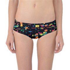 Playful Colorful Design Classic Bikini Bottoms by Valentinaart