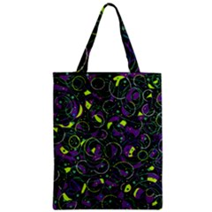 Purple And Yellow Decor Zipper Classic Tote Bag by Valentinaart