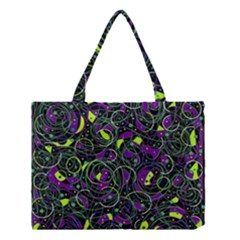 Purple And Yellow Decor Medium Tote Bag