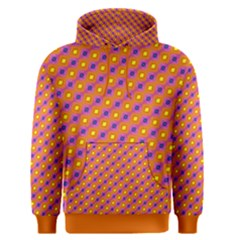 Vibrant Retro Diamond Pattern Men s Pullover Hoodie