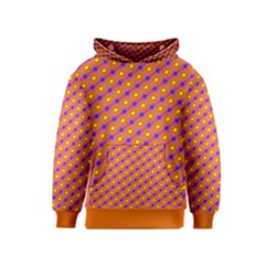 Vibrant Retro Diamond Pattern Kids  Pullover Hoodie
