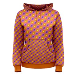 Vibrant Retro Diamond Pattern Women s Pullover Hoodie