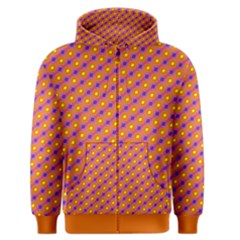 Vibrant Retro Diamond Pattern Men s Zipper Hoodie