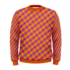 Vibrant Retro Diamond Pattern Men s Sweatshirt