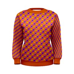 Vibrant Retro Diamond Pattern Women s Sweatshirt by DanaeStudio