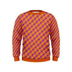 Vibrant Retro Diamond Pattern Kids  Sweatshirt