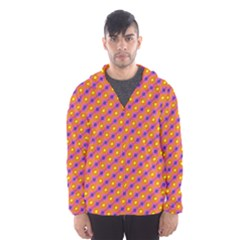 Vibrant Retro Diamond Pattern Hooded Wind Breaker (Men)