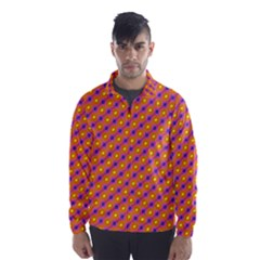 Vibrant Retro Diamond Pattern Wind Breaker (Men)