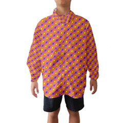 Vibrant Retro Diamond Pattern Wind Breaker (Kids)