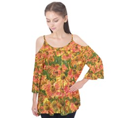 Helenium Flowers and Bees Flutter Tees by GiftsbyNature