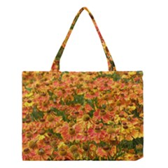Helenium Flowers And Bees Medium Tote Bag by GiftsbyNature