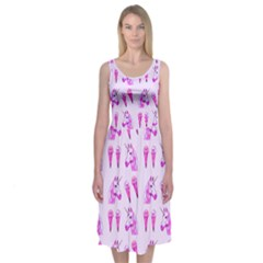 Unicorns & Icecreams In Mallow Wildflower Midi Sleeveless Dress