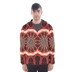 Circle Pattern Hooded Wind Breaker (Men) by Zeze