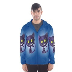 Cats Funny Hooded Wind Breaker (Men) by Zeze