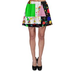 Colorful Facroty Skater Skirt by Valentinaart