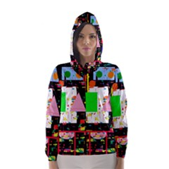 Colorful Facroty Hooded Wind Breaker (women) by Valentinaart