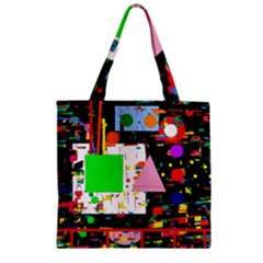 Colorful Facroty Zipper Grocery Tote Bag by Valentinaart