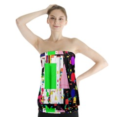Colorful Facroty Strapless Top by Valentinaart