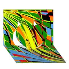 Jungle Heart 3D Greeting Card (7x5) by Valentinaart