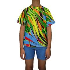 Jungle Kids  Short Sleeve Swimwear by Valentinaart