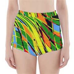 Jungle High Waisted Bikini Bottoms by Valentinaart