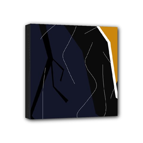 Digital Abstraction Mini Canvas 4  X 4  by Valentinaart