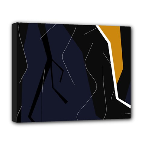 Digital Abstraction Deluxe Canvas 20  X 16   by Valentinaart